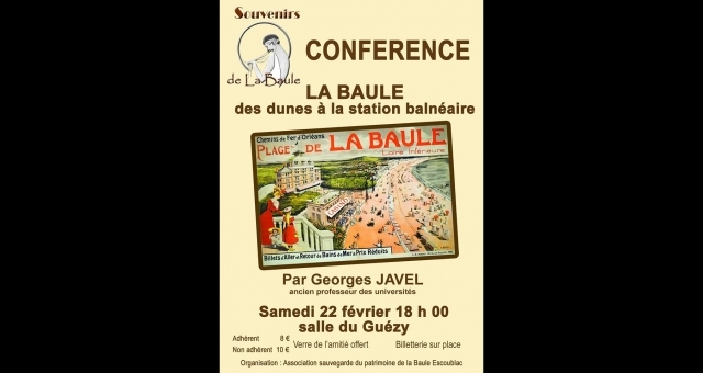 Baie de la baule Culture, Conférence sur la Baule