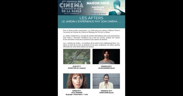 Baie de la baule Culture, La semaine FOLLE du FESTIVAL DU CINEMA