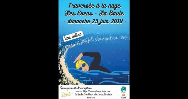 Baie de la baule Loisirs, Traversée à la nage Les Evens - La Baule