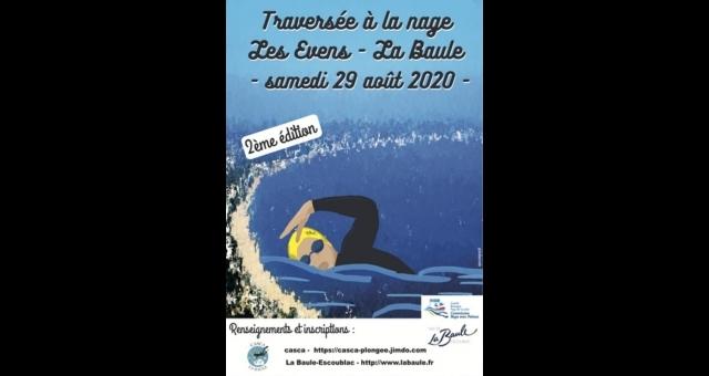 Baie de la baule Loisirs, Traversée à la nage Les Evens - La Baule 2020