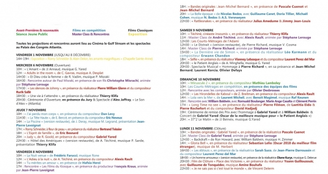 Baie de la baule Culture, Tout le programme du Festival