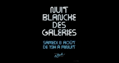Actu Nuit blanche des galeries 2020